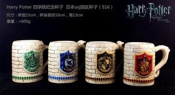 Baru 4 Pcs Harry Piala Keramik Mark Cangkir Keramik Cangkir Kopi Gelas Air Gryffindor Slytherin Mentega Bir Piala Cosplay alat Peraga