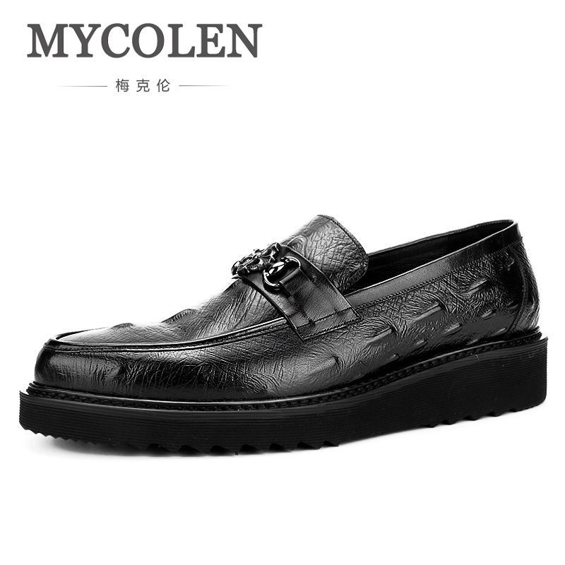 MYCOLEN 2018 New Fashion Shoes Men Soft Leather Footwear Men's Causal Shoes Brand Non-Slip Breathable Leather Shoes Buty 2017 new spring imported leather men s shoes white eather shoes breathable sneaker fashion men casual shoes