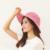2016 Nuevo Señoras de Las Mujeres de Moda de Verano Plegable Grande Ancho Brim Floppy Summer Sun Beach Sombrero Del arco del Cordón Anti-Ultravioleta Cap