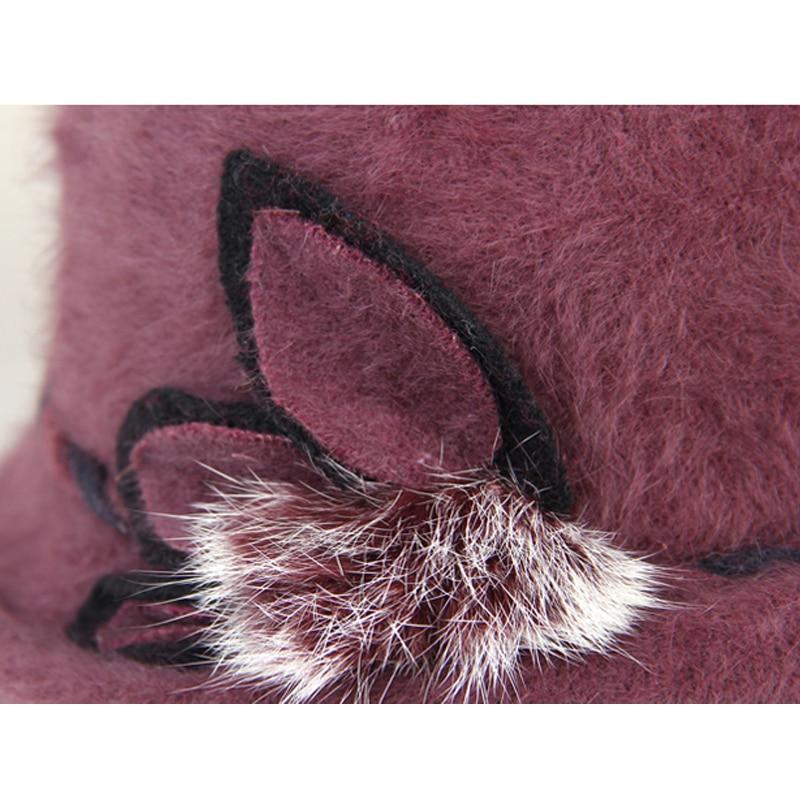 Елегантна модна зимна шапка федора за - Аксесоари за облекла - Снимка 4