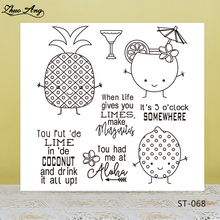 Coconut and Fruits Clear Silicone Stamp/Seal for DIY Scrapbooking/Photo Album Decorative Card Making Stamps