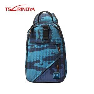 Image 1 - TSURINOYA Angeln Tasche Multifunktionale Wasserdichte Outdoor 750D Nylon 32*21*9cm Angeln Getriebe Rucksack Mochila De Pesca sac Peche
