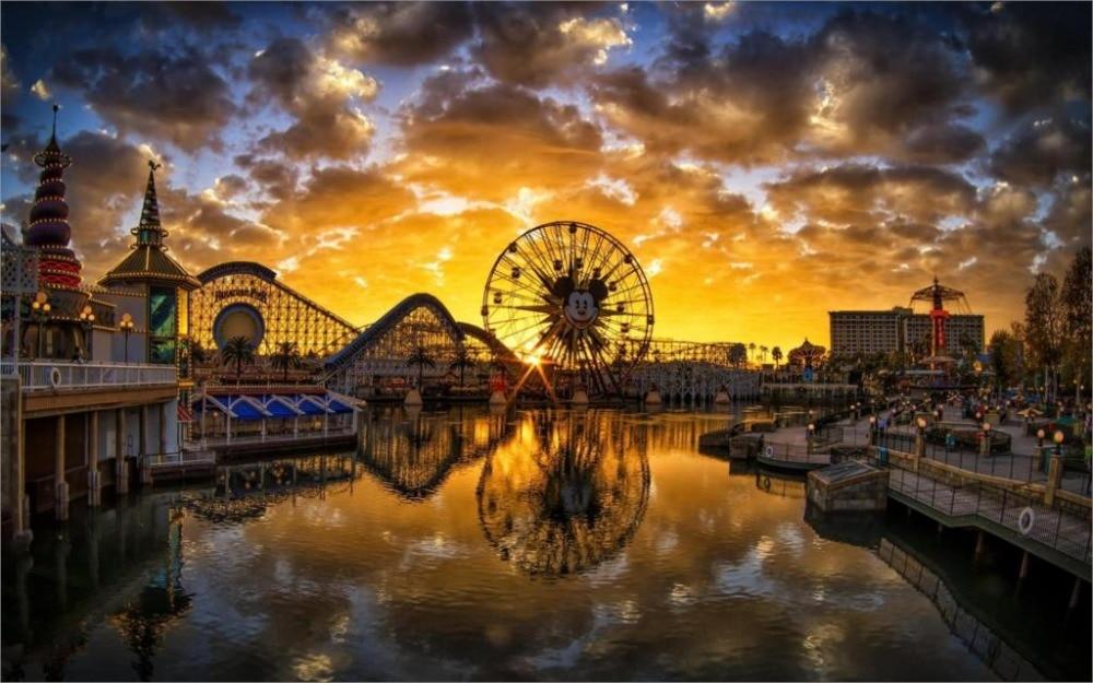 24x36 дюймов/Искусство Шелковый плакат/Рай Pier закат Калифорния