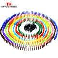 120 unids/lote 12 Colores Estándar Domino de Madera Juegos de Mesa Juguetes Educativos para Niños Niño Niña Regalo de Los Cabritos
