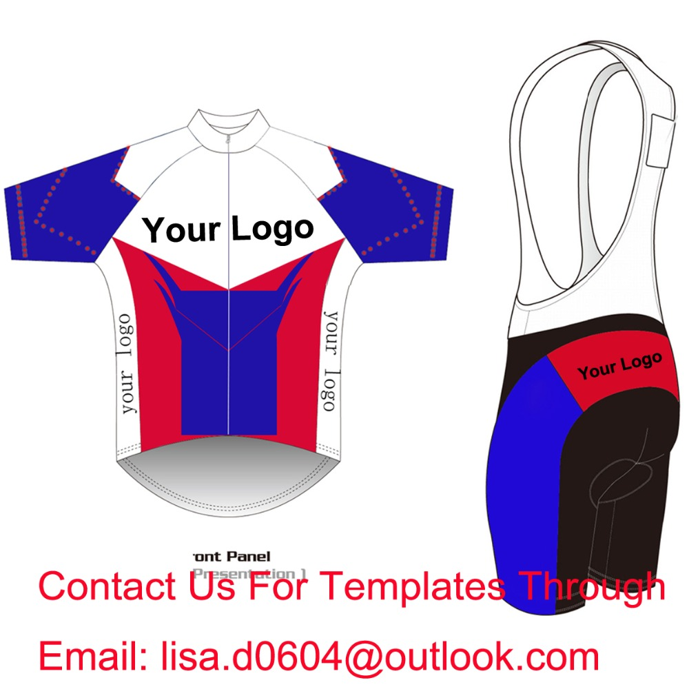 Custom Cycling Jersey And BIB Shorts Summer Set DIY Bicycle Wear Polyester + LyCra Any Color Any Size Any Design Free shipping 2016 custom roupa ciclismo summer any color any size any design cycling jersey and diy bicycle wear polyester lycra cycling sets