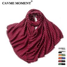 CAVME Plaid Wool Scarf Fashion Ladies Long Largue Scarves Pure Woolen Shawl Wraps Patchwork Size Shawls 80*200cm 300g