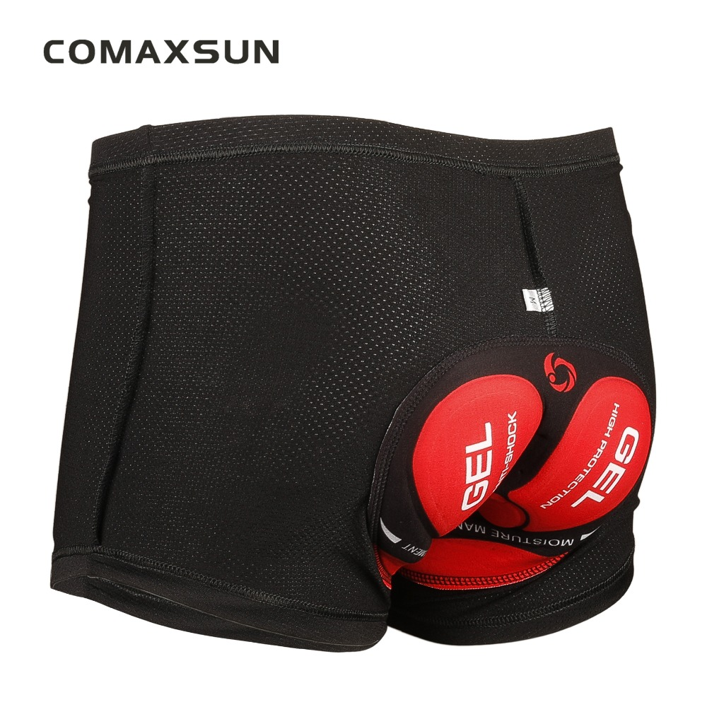 COMAXSUN Heren Cycling Ondergoed Fiets Mountain MTB Shorts Riding Bike Sport Ondergoed Compressie Panty Shorts 5D Padded