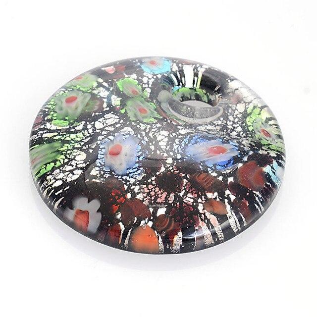 新アリヴァ手作りミッガラスアート釉薬クールラウンドペンダントフィット女性ガールギフト送料コード