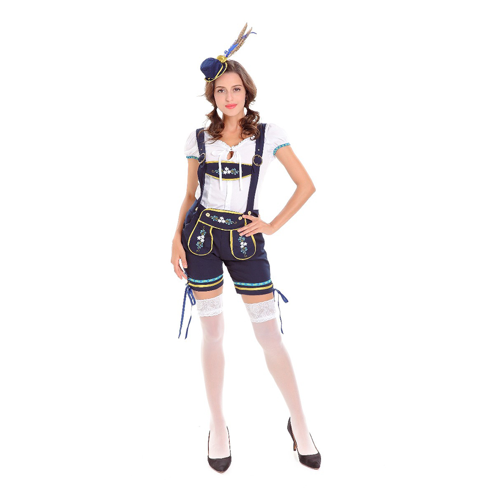 Women Lederhosen Beer Girl Cosplay Costume Sexy German Oktoberfest Party Fancy Dress sexy maid Halloween Costumes For Women