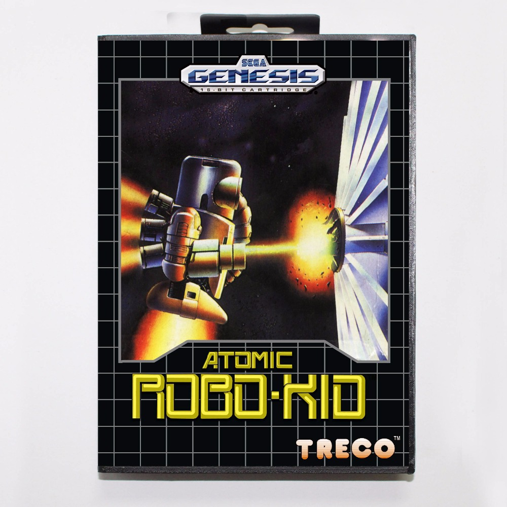 Atomic Robo Kid 16 bit MD Game Card With Retail Box For Sega Mega Drive For Genesis