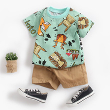 Lovely Baby Clothing Sets Newborn Infant Baby Boys Girls Short Sleeve Cartoon Tops Shirt+Pants Outfits Set Bebes Tracksuit#py4-in Clothing Sets from Mother & Kids on AliExpress