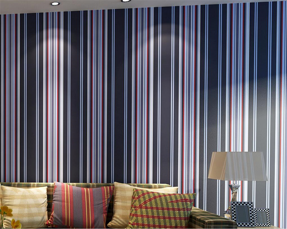Beibehang Mediterranean  wallpaper of the sitting room the bedroom of children room warm vertical stripes modern wall paper roll beibehang wallpaper vertical stripes 3d children s room boy bedroom mediterranean style living room wallpaper