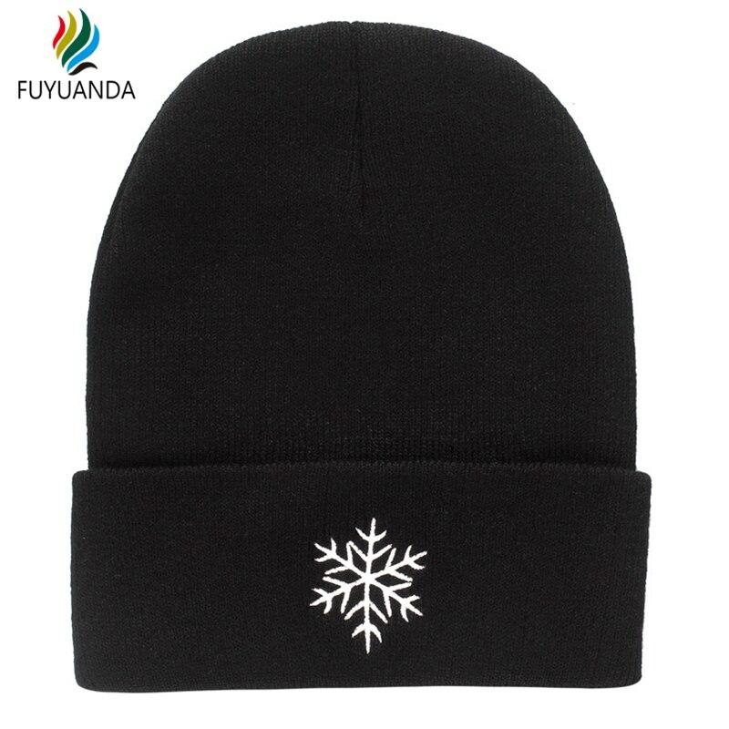 09e617fa Snowflake Sun Mark Hats Beanies Women 2017 Winter