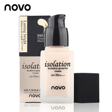 NOVO Foundation Skin Care Makeup Isolation Gouache Cream SPF 35 Whitening Concealer Oil-control Waterproof Face Care Cosmetics