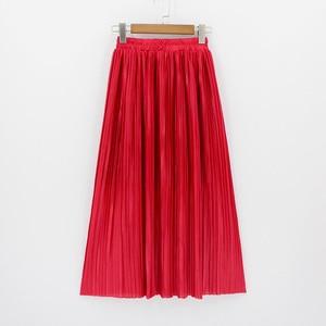 Image 1 - 2018 ผู้หญิงใหม่แฟชั่น Elastic Plus ขนาดยาวกระโปรงสูงเอว Maxi กระโปรง Saia Bling Metallic ผ้าไหมเกาหลี Tutu กระโปรง