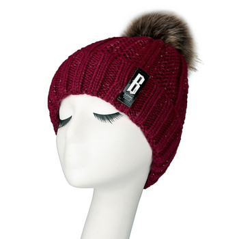a22299b9 Fashion Women's Winter Hair Ball Curling Solid Color Plus Velvet Thick Knit  Hat winter hats for women