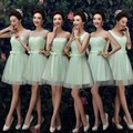 2016 new wedding dress upscale brid  esmaid dresses green/champagne/Ivory/White bridesmaid dress short paragraph sisters dress