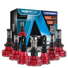 """Nighteye светодиодный H4/HB2/9003 H13 9005 9006 9007 H7 H11 60 Вт 10000LM Автомобильный светодиодный фары H1 H3 Противотуманные огни 3000K 6500K 8000K """"подключи и играй"""""""