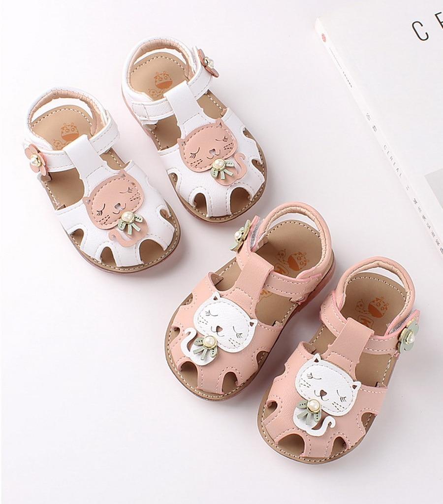 Toddler Sandals Cartoon-Shoes Summer Children Cat Girls Soft-Bottom DHL 100pair