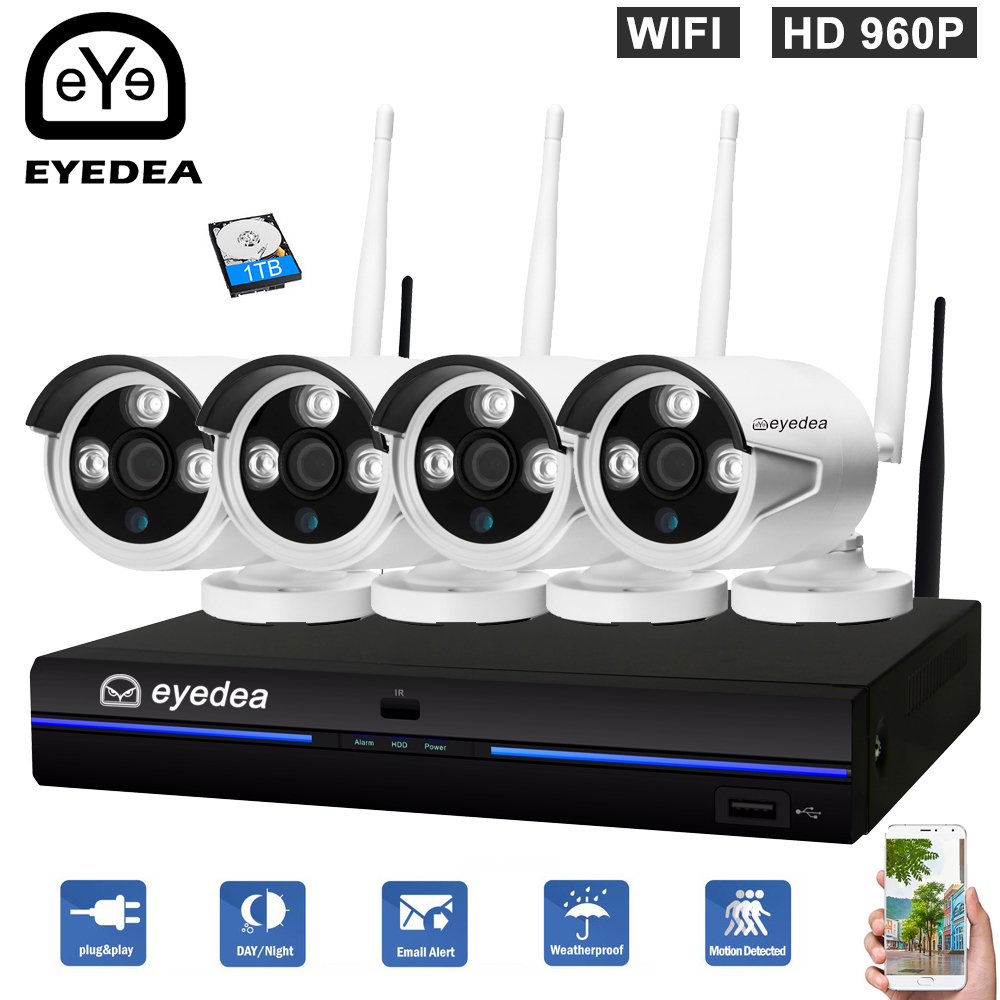 Eyedea PIR WiFi Wireless Video Audio Smart Home Security Camera Motion Sensor Tamper Alarm IR Night Vision Video System Kit