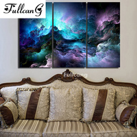 FULLCANG diy diamond embroidery natural scenery diamond painting cross stitch triptych full square rhinestone 5d mosaic E1241