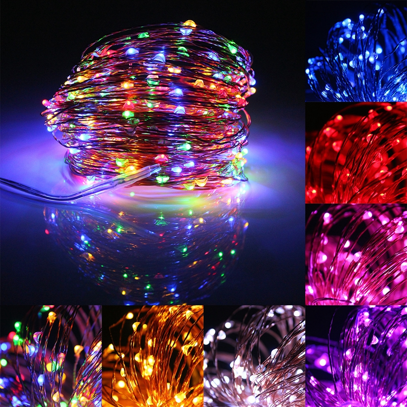 32M 300LED Solar Powered LED String Copper Wire Fairy Light Lamp Waterproof for Christmas Valentines Wedding Decoration