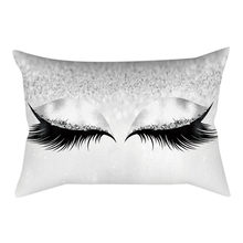 1pc Cushion Cover Decorative Pillows Car Bed Sofa Eyelash Out Soft Velvet Cushion Cover Pillowcase 30x50cm Marble Pillow Cases(China)