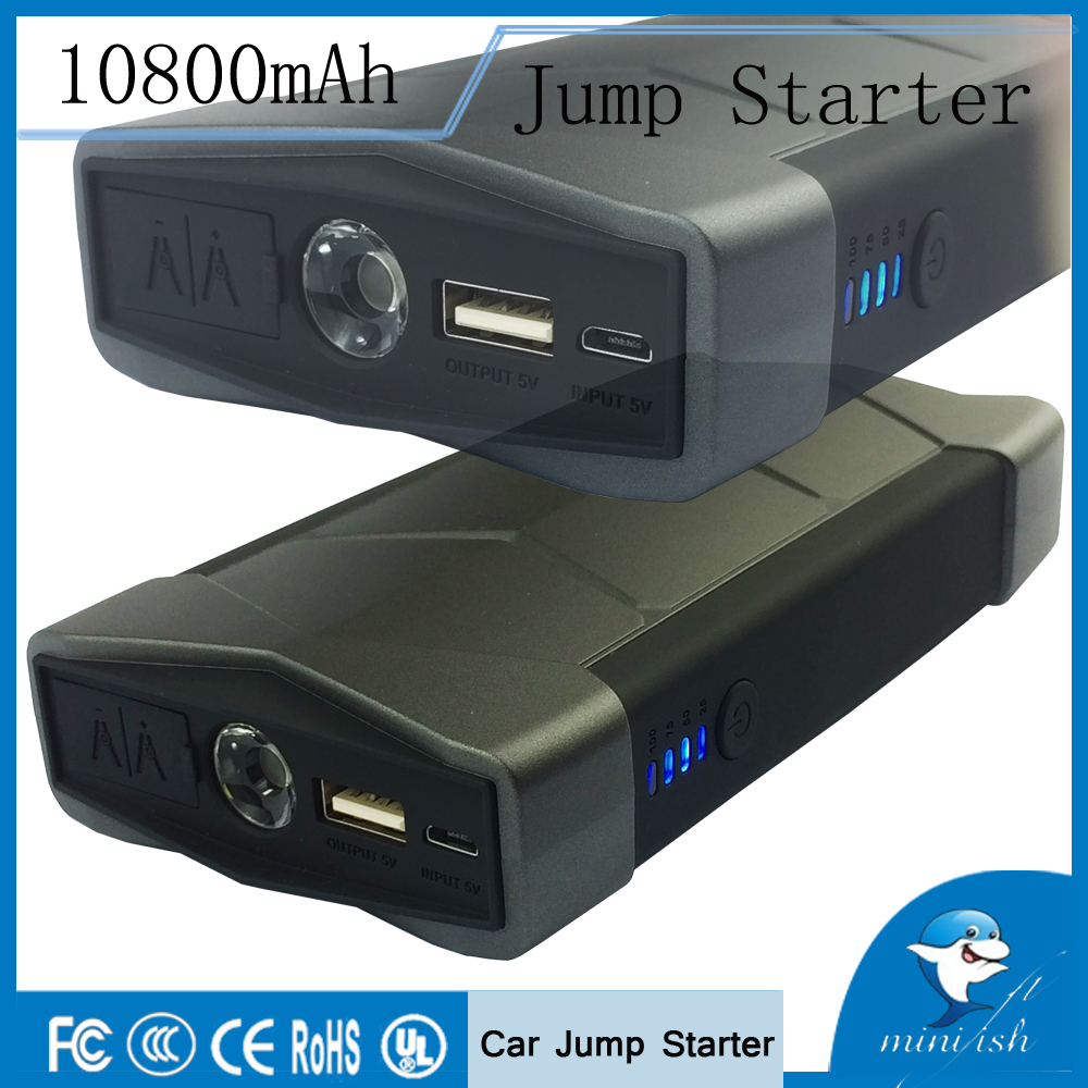 Portable Emergency Car Jump Starter 12V batterioplader Power Bank