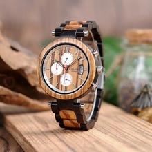 Бобо птица P17 деревянные часы мужские подшипник Дизайн Дата Дисплей наручные часы для мужчин