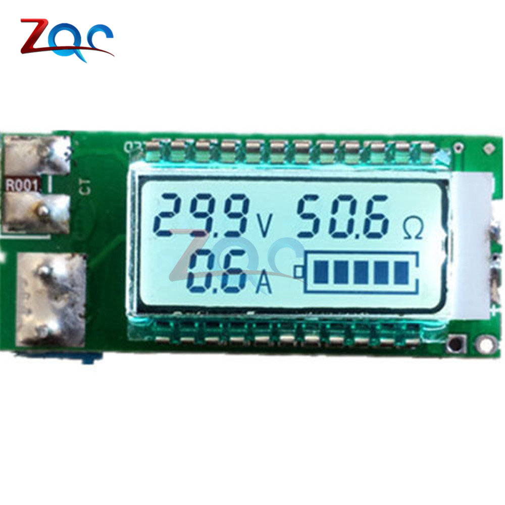 18650 battery Lithium Li-ion tester Capacity Current Voltage Detector LCD meter 18650 li ion lithium battery capacity tester 1 2v 12v resistance lead acid battery capacity meter discharge tester