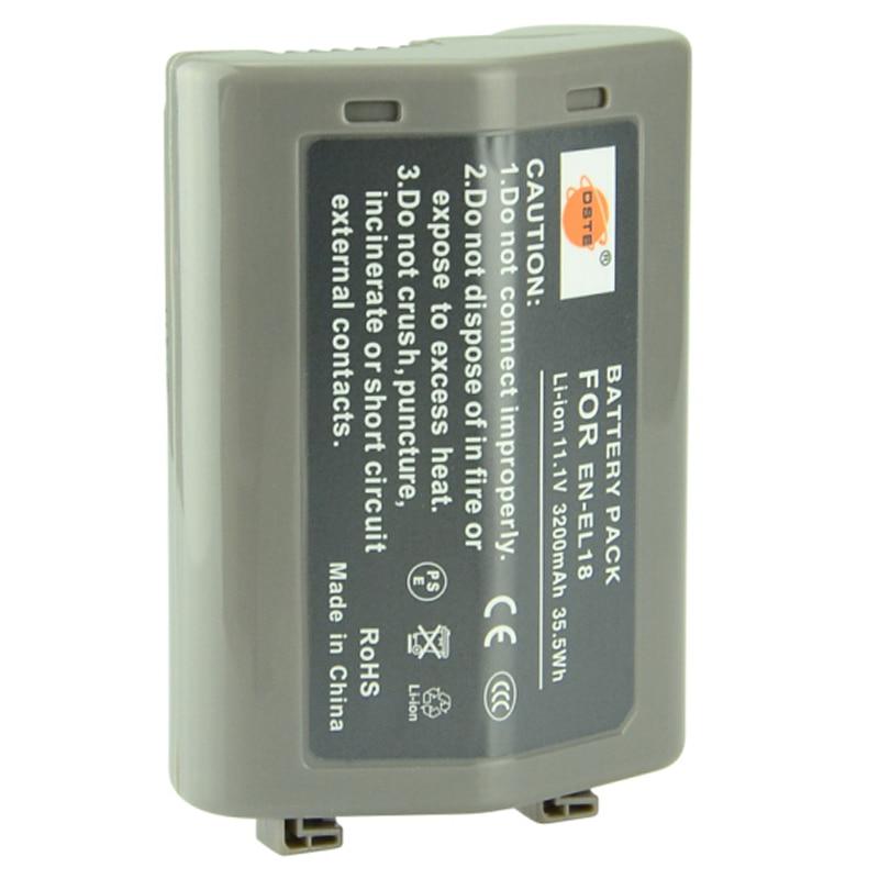 Batterie Li-ion DSTE en-el18 EN-EL18 pour appareil photo Nikon D4 D5