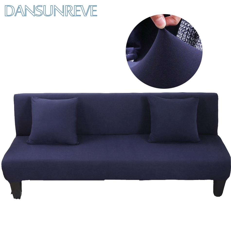Sleeper Sofa Navy Blue: Navy Blue Armless Couch Sofa Bed Covers Flexible Stretch
