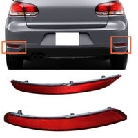 For Volkswagen Golf 6 (MK6) GTI GTD 2010 2014 Rear Fog Lights Shell Car Parts no bulb Reflector 2pcs