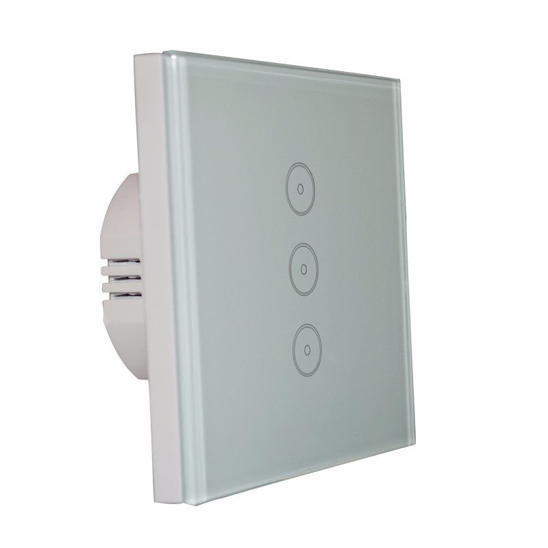EU 3 Gang Wall Switch Control via APP or Voice Control by Alexa Work with Echo WiFi Smart Home Control Light Switch Panel cybernetics or control