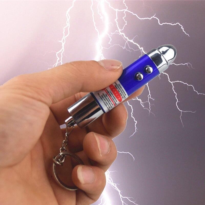 [Nouveau] 24 pcs/lot poisson d'avril jour de choc électrique balle laser lampe blague jouet astuce jouets porte-clés cadeau blagues jouet de fête - 2