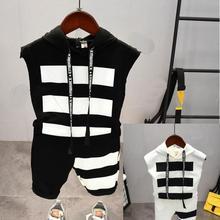 Summer baby Boys Clothing Sets boys Hood