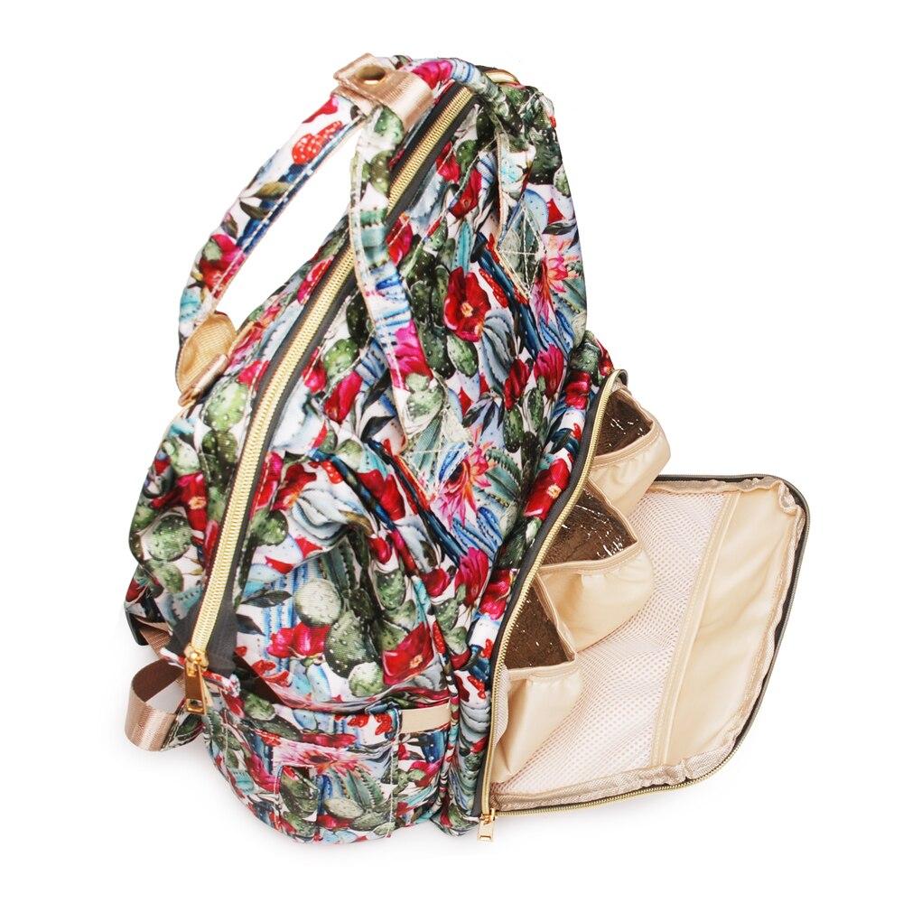 Bagaj ve Çantalar'ten Sırt Çantaları'de 2 adet Kaktüs Çiçek bebek Bezi Çantası Bebek Hırka Bakım Nappy Çantası Büyük Kapasiteli Sırt Çantası Seyahat Çantası Ücretsiz Kargo DOM1276'da  Grup 3