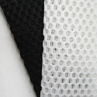 1 yard New Fashion White 2.5mm Sandwich Air layer Mesh Fabric 3D French Polyester Black Net Cloth Handmade Patchwork Sewing DIY