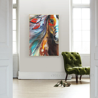 Unique Art Gift High Quality Horse Oil Paints Abstract Pop Horse Oil Painting On Canvas Handmade Animal Indian Horse Paintings