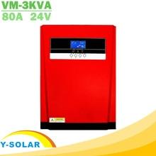 3200 واط نقية شرط موجة الشمسية الهجين العاكس MPPT 80A لوحة طاقة شمسية شاحن و شاحن تيار متردد الكل في واحد 230VAC الشمسية جهاز التحكم في الشحن