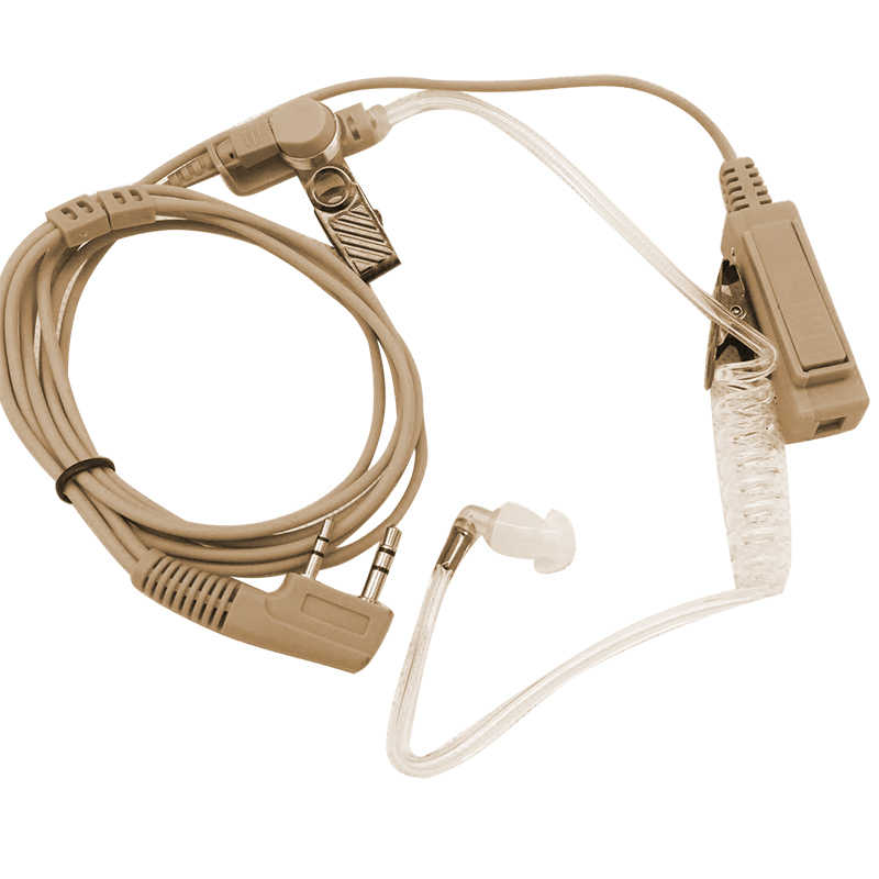 2017 2 Spille Beige Carne di Colore Covert Acoustic Tubo Auricolare Auricolare per il walkie-talkie Wouxun Radio Security Door Supervisor 2 spille
