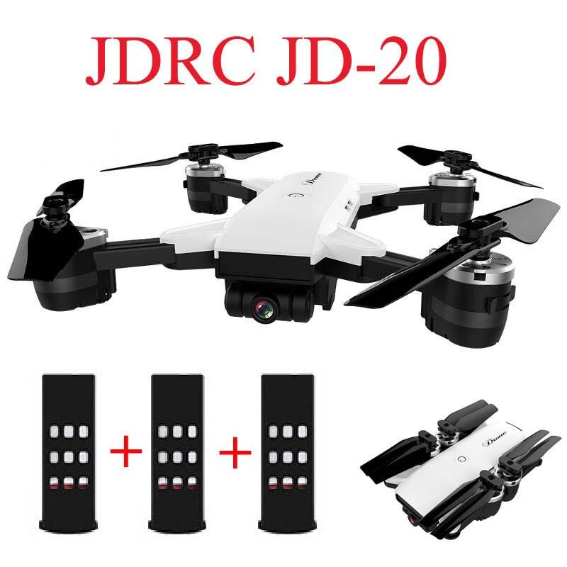 JDRC JD-20 JD20 WIFI FPV Con 2MP Ampio Angolo di Macchina Fotografica Ad Alta Modalità Hold Pieghevole RC Quadcopter RTF Selfie Drone VS visuo XS809HW E58