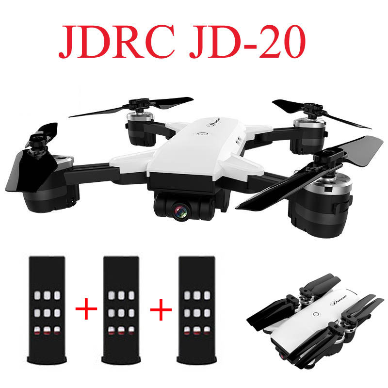 JDRC JD-20 JD20 WIFI FPV Mit 2MP Weitwinkel Kamera Hohe Halten Modus Faltbare RC Quadcopter RTF Selfie Drone VS visuo XS809HW E58