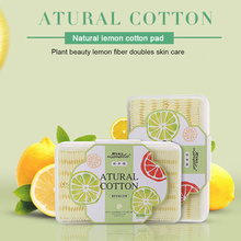 100PCS Organic Soft Cosmetic Cotton Pads Makeup Remover Towel Pads Double Sided Three Layer Face Cleansing Wipes Cotton Pads