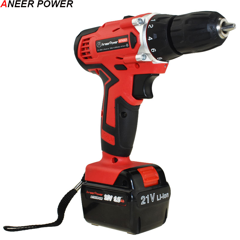 21V Electric Drill Screwdriver Cordless Drill Electric Batteries Screwdriver Power Tools Mini Drill Electric Screwdriver Eu Plug upt 32015d plug in electric screwdriver electric screwdriver electric tools electric group