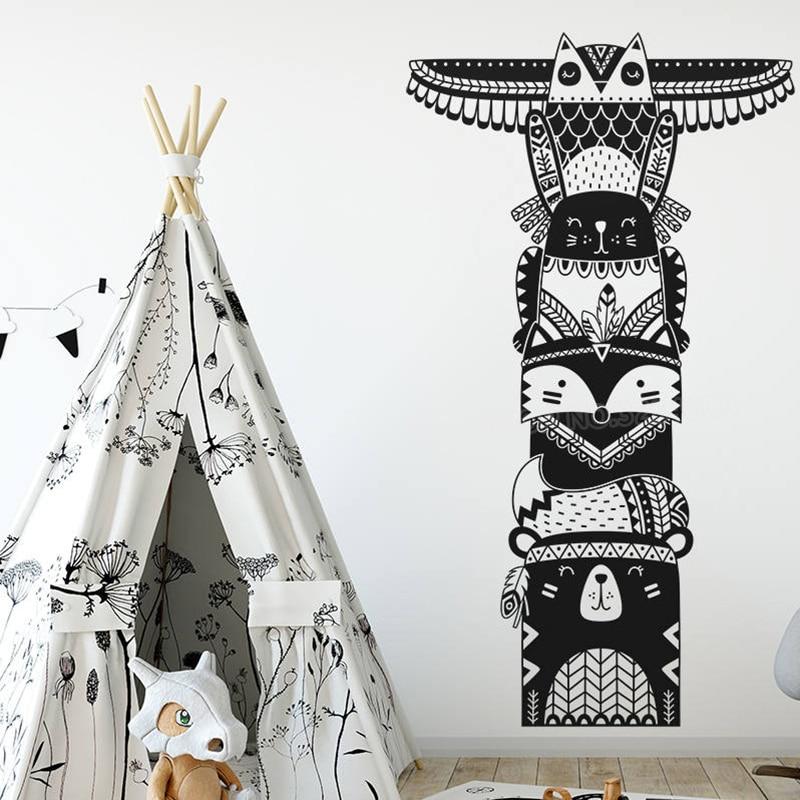 Totem Pole Wand Aufkleber Woodland Tier Tribal Decals Vinyl Abnehmbare Wand  Aufkleber Für Baby Kinder Schlafzimmer Kindergarten Wandbild L273
