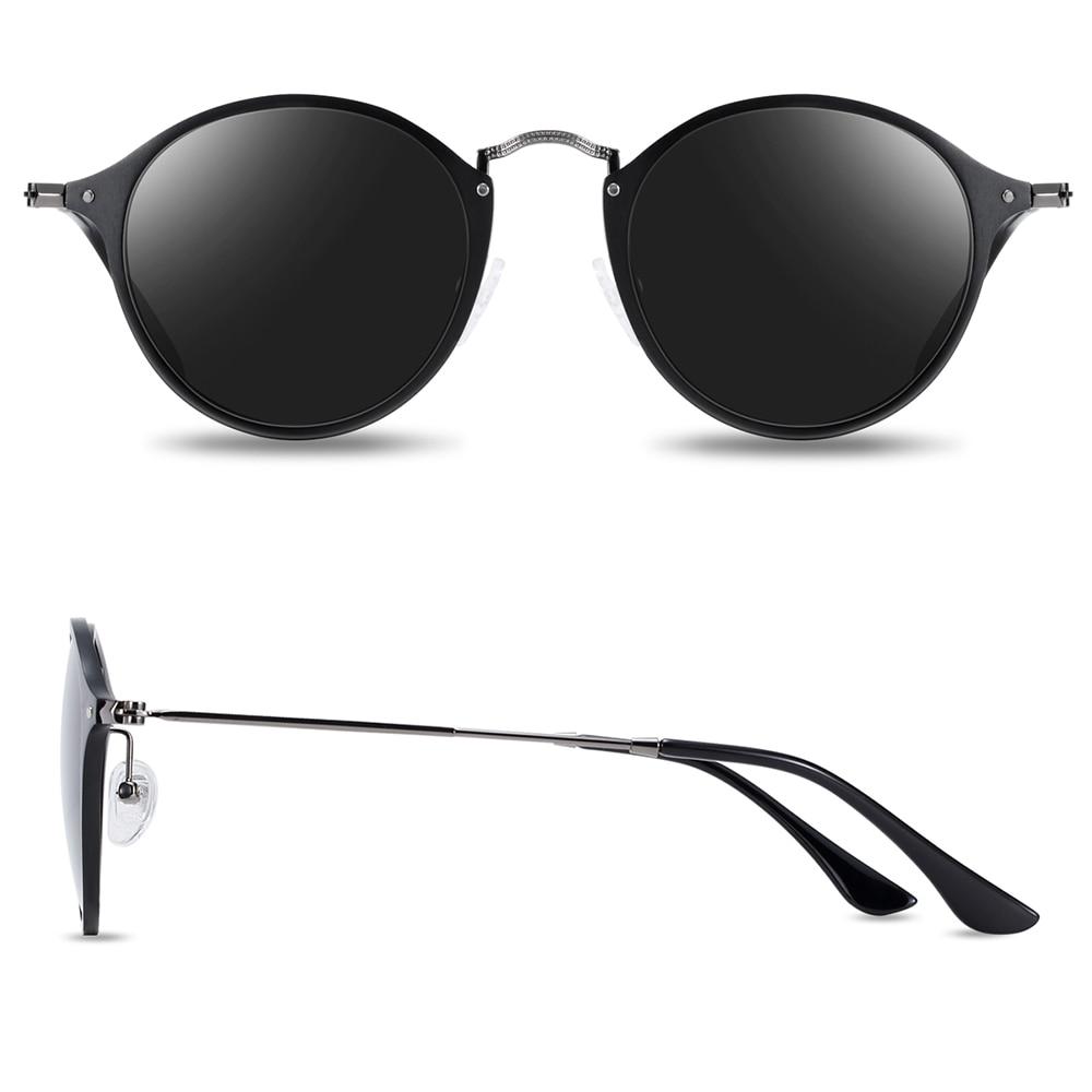 BARCUR Aluminum Vintage Sunglasses for Men Round Sunglasses Men Retro Glasses Male Famle Sun glasses retro oculos masculino 4