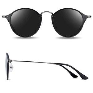 Image 3 - BARCUR 라운드 선글라스 여성 Steampunk 선글라스 Polarized Woman Sunglases Retro oculos masculino