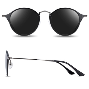 Image 4 - BARCUR الألومنيوم المغنيسيوم Vintage النظارات الشمسية للرجال الاستقطاب نظارات شمسية مستديرة النساء الرجعية النظارات Oculos Masculino