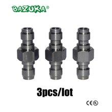 3 pièces nouveau Paintball Air Gun Airsoft PCP tuyau de charge les deux extrémité 8 MM déconnexion rapide prise adaptateur en acier inoxydable remplissage mamelon